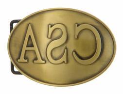CSA Bronze Plated Metal Belt Buckle