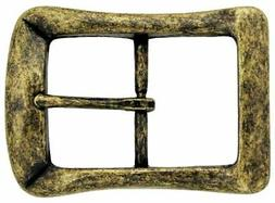 """Curved Square Single Prong Center Bar Belt Buckle 1-1/2""""  wi"""