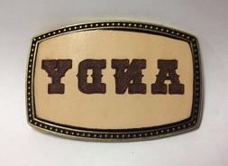 Custom Made - Personalized Leather Belt Buckle - Laser Engra