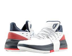 Adidas D Lillard 3 Dame 3 USA White/Scarlet/Navy Men's Baske