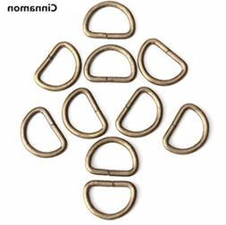 10pcs D Rings Ferrule Ribbon Clasp Knapsack Belt Buckle by A