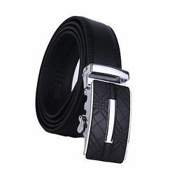 Dante Men's Leather Ratchet Dress Belt with Automatic Buckle