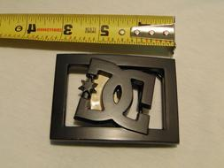 DC SHOES BLACK METAL BELT BUCKLE