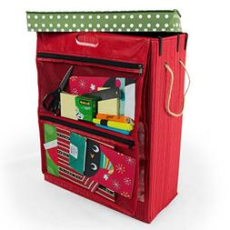 Santas Bags Decorated Holiday organizer. Gift Bag, Tissue, a