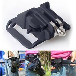 Digital DSLR Camera Holster Hanger Waist Belt Buckle Button