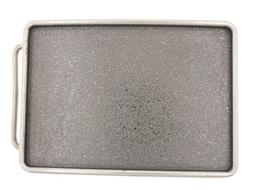 Distressed Blank Rectangle Metal Belt Buckle