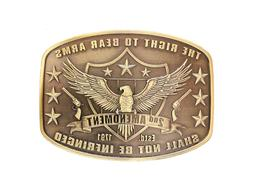 Don't Tread on Me Belt Buckle Gadsden Flag Snake Bronze