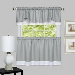 Achim DRTV24GW12 Darcy Window Curtain Tier & Valance Set 58X