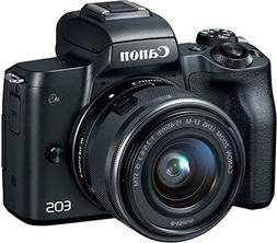 Canon EOS M50 Mirrorless Camera Kit w/EF-M15-45mm and 4K Vid
