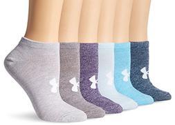 Under Armour Women's Essential No Show Socks , Purple Heathe