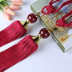 European Style Beads Hanging Belt Ball strap tassel tieback