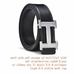 Fashion Leather Metal Buckle Unisex Belt Casual Business