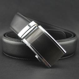 Fashion Leather Metal Buckle Unisex Women Men Belt Casual Bu