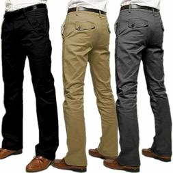 Fashion Mens Formal Business Pants Slim Fit Straight-Leg Cas