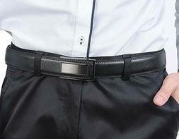 Beltox Fine Men's Leather Ratchet Belt Buckle With Nickel Au
