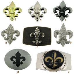 Fleur de lis Belt Buckle Men Women Cowboy Cowgirl Western Fr