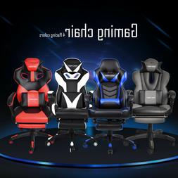 Racing Style Office Gaming Chair Pu Leather Recliner Compute