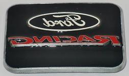 Ford Racing Logo Belt Buckle