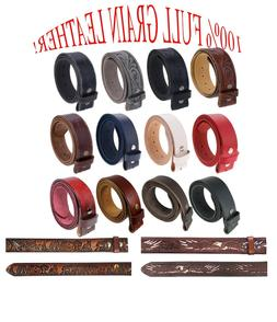 Gelante FULL GRAIN Genuine Leather Belt Strap without Buckle