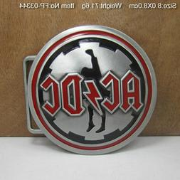 Funny 3D Belt Buckle Men Novelty Zinc Alloy ACDC Rock Music