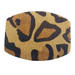 Genuine Calf Hair Print Leopard/Zebra Western Belt Buckle