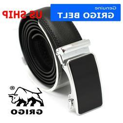 Genuine Leather Belt Mens Ratchet Dress Belts With Adjustabl