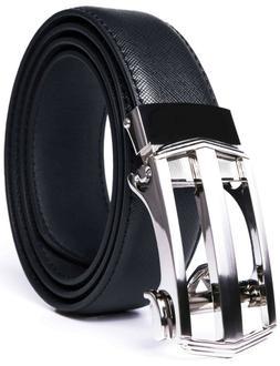 Bonded Leather Belt Mens Ratchet Dress Belts With Adjustable
