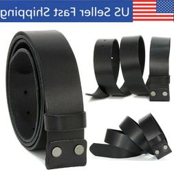 Genuine Leather Belts For Men Boys Jeans Without/No Buckle 1