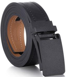 Marino Avenue Genuine Leather Casual Ratchet Belt with Autom