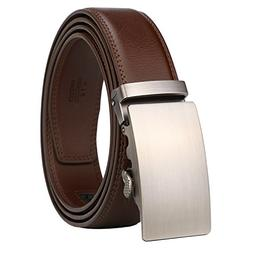 Genuine Leather Dress Belt for Men with Automatic Buckle Eas