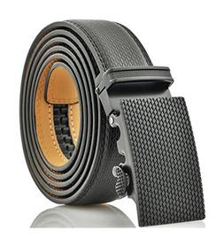 MenS Genuine Leather Ratchet Dress Belt With Automatic Buckl
