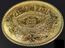 Jack Daniels Gold color Old No.7 Belt Buckle Western Cowbow