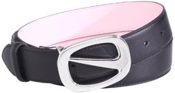 Nike Golf Women's Cutout Swoosh Belt, Black, X-Small