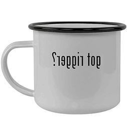 got rigger? - Stainless Steel 12oz Camping Mug, Black