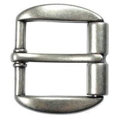"Heavy Duty Silver Finish Roller Belt Buckle for 1 1/2"" Belts"