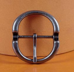 Heavy Duty Silver Round Center Bar Replacement Men's Belt Bu