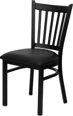 Flash Furniture HERCULES Series Black Vertical Back Metal Re