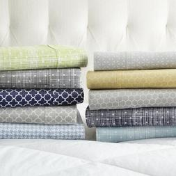 Home Collection Premium 4 Piece Printed Bed Sheet Set - Extr