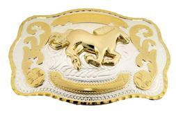 Horse Belt Buckle Cowboy Large Western Texas Usa Metal men w