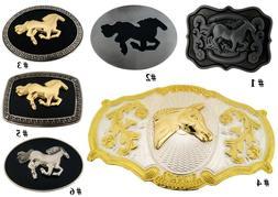 Horse Belt Buckle Western Cowgirl Rodeo Costume Men Women La