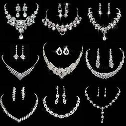 Hot Prom Wedding Bridal Party Crystal Rhinestone Necklace Ea