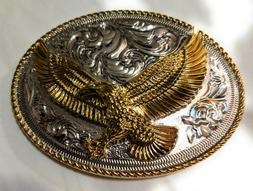 ✖ HQ WESTERN EAGLE Cowboy Rodeo Style Belt Buckle Heritage