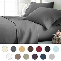 ienjoy Home Hotel Collection Luxury Soft Brushed Bed Sheet S