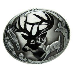 Indian Rodeo 3D Deer Hunting Belts Buckles Mens Metal Vintag