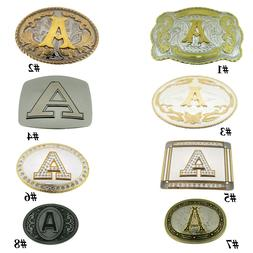 Initial A Letter A Belt Buckles Alphabet A Monogram A Men Co