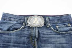 Initial Letter A to Z Western Cowboy Rodeo Belt Buckle USA S