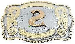 Initial Letter S Western Extra Large Rodeo Cowboy Belt Buckl