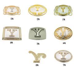 Initial Letter Y Belt Buckle Alphabet Monogram Western Cowbo