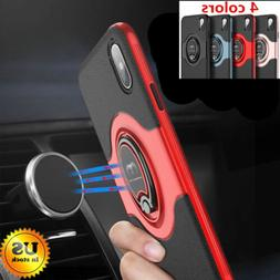 For iPhone X 6 6S 7 8 Plus Ring Shockproof Protective Rugged