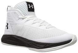 Under Armour Women's Jet Mid Basketball Shoe, White /Black,